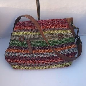 The sak brand new with tag multicolor weave purse